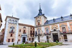 Plaza de la Villa Casa de Cisneros Madrid Spagna Immagine Stock Libera da Diritti