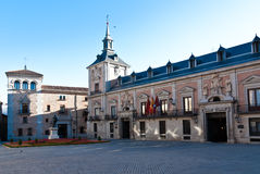 Plaza de la Villa, Madrid,  Spain. Casa de la Villa seat of City Hall of Madrid and Casa de Cisneros in Plaza de la Villa, Madrid, Spain Royalty Free Stock Photos