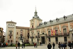 Plaza de la Villa in Madrid, Spain Stock Photo