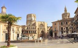 Free Plaza De La Virgen In Valencia Stock Photography - 99920592