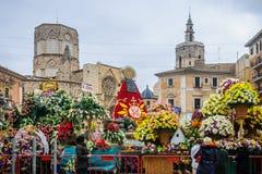 Plaza DE La Virgen in Valencia, Spanje Stock Fotografie