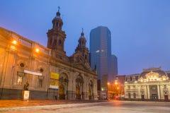 Plaza de las Armas fyrkant i Santiago royaltyfria bilder