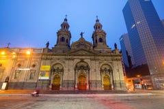 Plaza de las Armas fyrkant i Santiago fotografering för bildbyråer