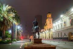 Plaza de las Armas fyrkant i Santiago royaltyfri fotografi