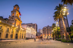 Plaza de las Armas square in Santiago Stock Images