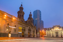 Plaza de las Armas square in Santiago Royalty Free Stock Images