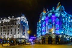 Plaza de las Cortes, στη Μαδρίτη Στοκ Εικόνες