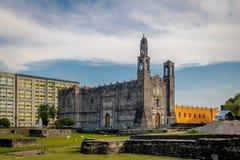 Plaza de las Tres Culturas τρία τετράγωνο πολιτισμού σε Tlatelolco - την Πόλη του Μεξικού, Μεξικό στοκ εικόνες