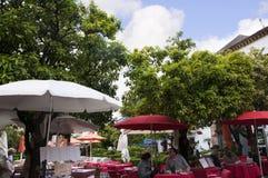 Plaza de los Naranjas in Marbella on the Costa Del Sol Andalucia, Spain Royalty Free Stock Photos