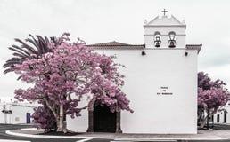 Plaza de los Remedios, Yaiza, Lanzarote, Îles Canaries photo libre de droits