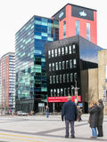 Plaza de Lowry, quais de Salford, Manchester Image libre de droits