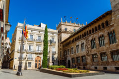 Plaza de Manises Manises Square In Downtown City Of Valencia In Spain stock photography