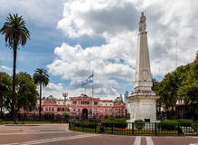 Plaza de Mayo και Casa Rosada - Μπουένος Άιρες, Αργεντινή Στοκ Εικόνα
