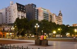 Plaza de Mayo το βράδυ Στοκ Φωτογραφία