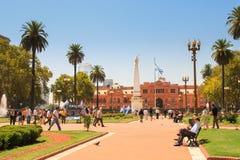 Plaza de Mayo imagem de stock royalty free