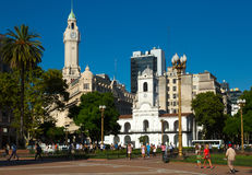 Plaza de Mayo in Buenos Aires Royalty Free Stock Image