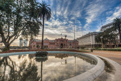 Plaza de Mayo in Buenos Aires, Argentina. BUENOS AIRES, ARGENTINA - APR 12: Plaza de Mayo (May Square), the main square in the Monserrat neighborhood of central Stock Photography