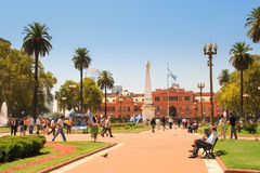 Plaza de mayo. The heart of Plaza de Mayo in Buenos Aires, Argentina Royalty Free Stock Image