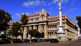 The Plaza de Mayo is the main square in Buenos Aires, Argentina. The Plaza de Mayo English: May Square is the main square in Buenos Aires, Argentina stock video footage