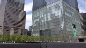 Plaza de 911 monumentos Nuevo edificio del World Trade Center en New York City