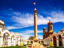 Plaza 10 de Noviembre för huvudsaklig fyrkant i Potosi - Bolivia Arkivfoto