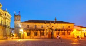 Plaza de Obradoiro in night. Santiago de Compostela Stock Photography