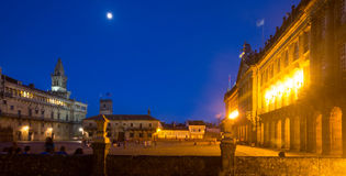 Plaza de Obradoiro in night time. Santiago de Compostela Stock Photo