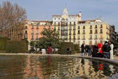 Plaza de Oriente在马德里市中心 免版税库存图片