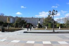 Plaza de Oriente και η ισπανική Royal Palace στη Μαδρίτη, Ισπανία Στοκ Εικόνα