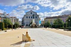 Plaza de Oriente, Μαδρίτη Στοκ Εικόνα