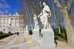 Plaza de Oriente, Μαδρίτη Στοκ Φωτογραφία