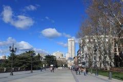 Plaza de Oriente στη Μαδρίτη, Ισπανία Στοκ εικόνες με δικαίωμα ελεύθερης χρήσης
