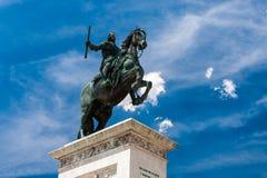 Plaza de Oriente στη Μαδρίτη, Ισπανία Στοκ Φωτογραφίες