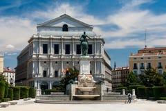 Plaza de Oriente στη Μαδρίτη, Ισπανία Στοκ Φωτογραφία