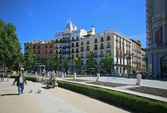 Plaza de Oriente στο κέντρο της Μαδρίτης, Ισπανία Στοκ Εικόνες
