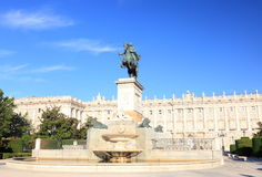 Plaza de Oriente - Madrid Royalty Free Stock Photos
