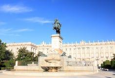 Plaza de Oriente - Madrid royalty free stock photos