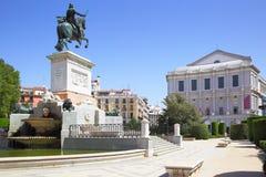 Plaza DE Oriente in Madrid Royalty-vrije Stock Fotografie