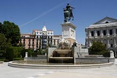 Plaza DE Oriente, Madrid Royalty-vrije Stock Afbeeldingen