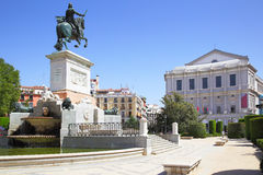 Plaza de Oriente in Madrid Royalty Free Stock Photography