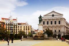 Plaza de Oriente  in Madrid Stock Photos