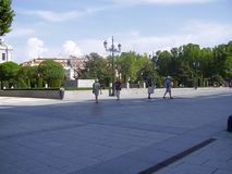 Plaza de Oriente de Madrid stock photos
