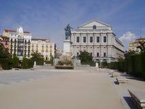 Plaza de Oriente + opera Royaltyfri Bild