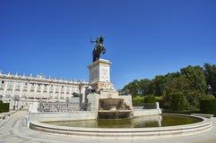 Plaza DE Oriente Square Madrid, Spanje Royalty-vrije Stock Fotografie
