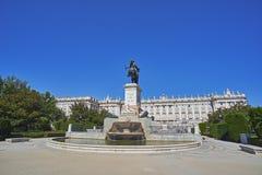 Plaza DE Oriente Square Madrid, Spanje Stock Fotografie