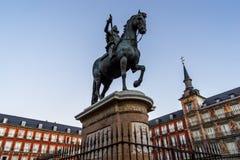 A plaza de Prefeito do Madri, Espanha imagem de stock royalty free