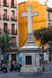 Plaza de Puerta Cerrada in Madrid Stock Images