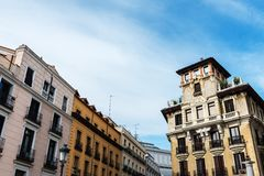 Plaza de Ramales στη Μαδρίτη Στοκ Φωτογραφίες