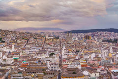 Plaza de San Francisco in old town Quito Royalty Free Stock Images