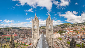 Plaza de San Francisco in old town Quito Stock Images